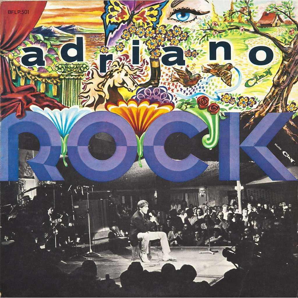 Adriano Rock By Adriano Celentano Lp Book With