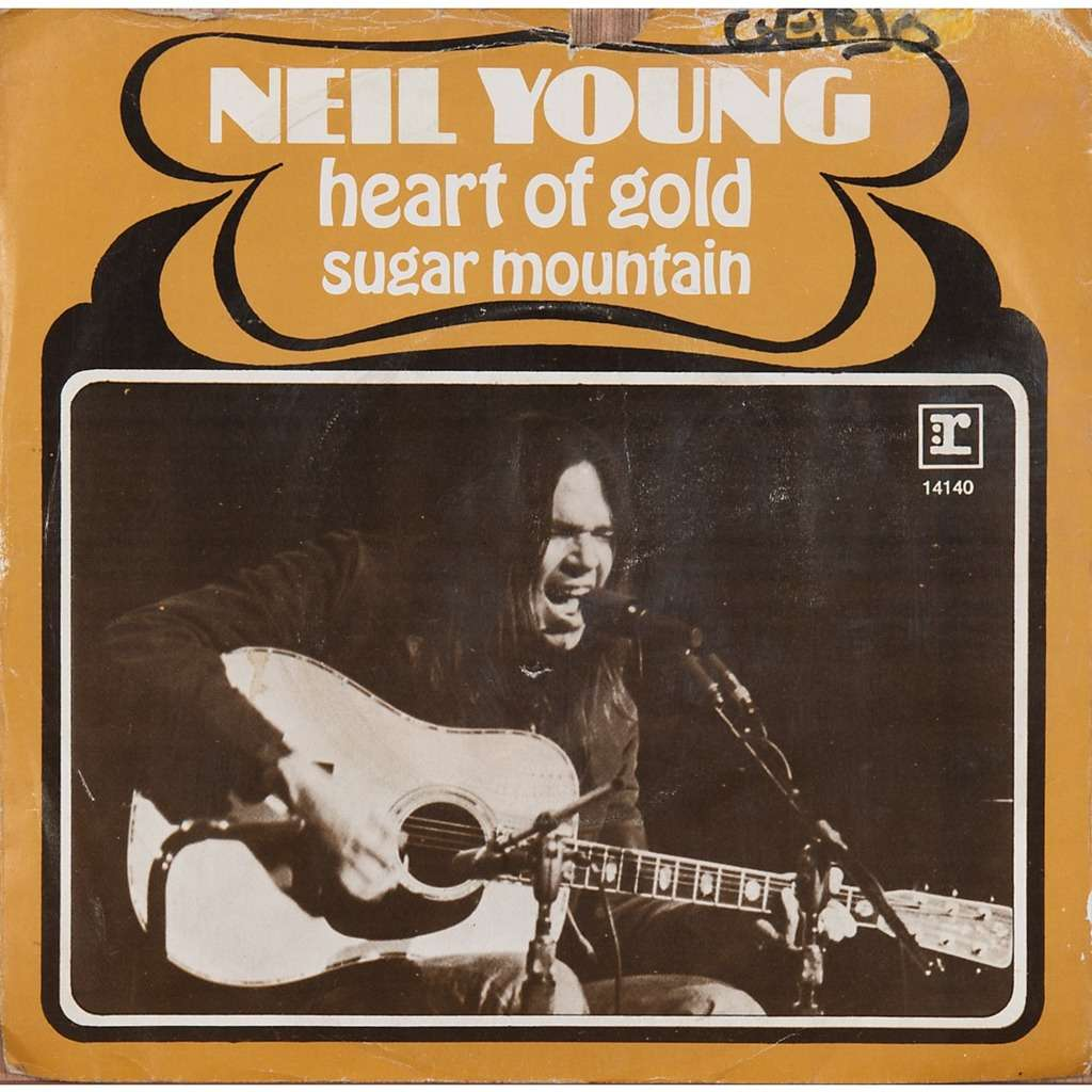 Heart of gold / sugar mountain by Neil Young, SP with ...