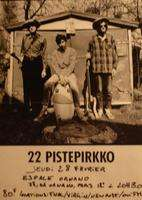 22 PISTERPIKKO Original poster concert  28/02  Paris Espace Ornano    60cm X 42cm  Folded