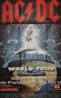 AC/DC Original poster concert  02/07/1997 Barcelona   90cm X 130cm  Folded