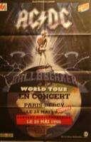 AC/DC Original poster concert   Paris Bercy 24/05/1996    120cm X 80cm  Folded