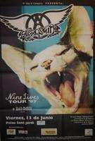 AEROSMITH Original poster concert  13/06/1997 Barcelona   90cm X 130cm  Folded