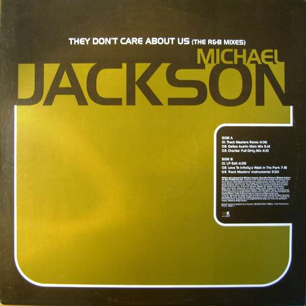 Michael Jackson - They Don't Care About Us - The R & B Mixes (6 Remixes)