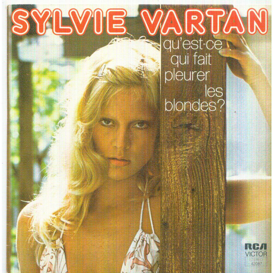 qu 39 est ce qui fait pleurer les blondes la lettre de sylvie vartan sp chez rareandmintrecords. Black Bedroom Furniture Sets. Home Design Ideas