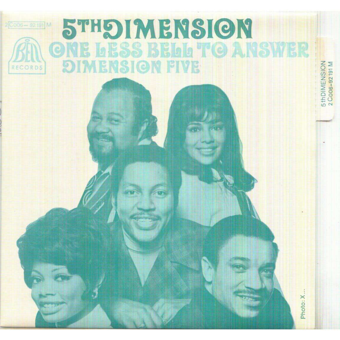 5TH DIMENSION ONE LESS BELL TO ANSWER / DIMENSION FIVE
