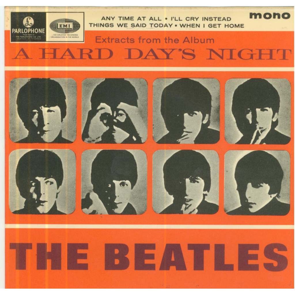 THE BEATLES Anytime at all/I'll cry instead/Things we said today/When I get home