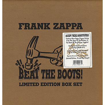 Beat The Boots Box Set With 10 Lps By Frank Zappa Lp