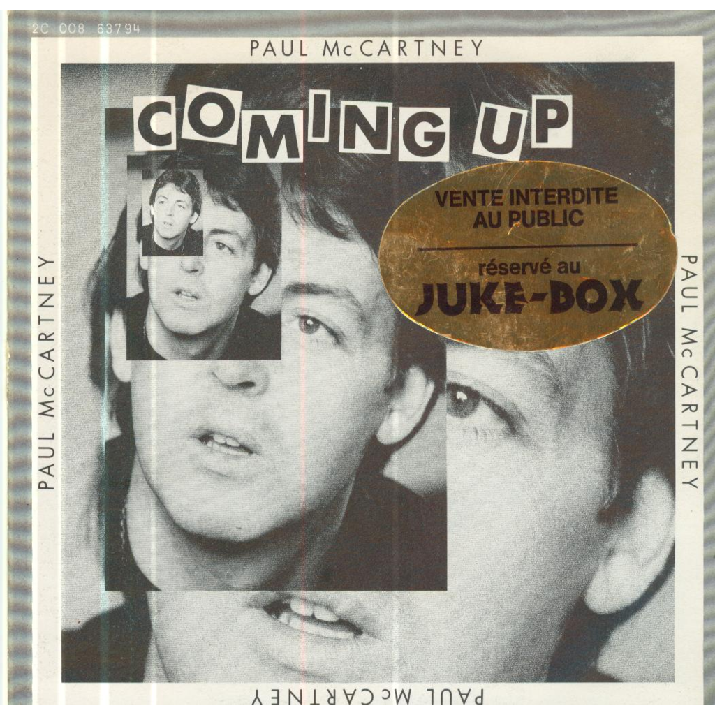 PAUL MCCARTNEY Coming up/...(Live version)/Lunchbox-Oddsox