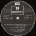 PET SHOP BOYS - How can you expect to be taken seriously(Ext.mix)/Where the streets have no name(Ext.mix)/Bet she's - Maxi 45T