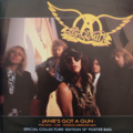 AEROSMITH - Janie's got a gun/Rag doll(Live)/Voodoo medecine man - poster sleeve - Maxi 45T