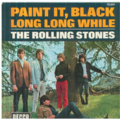 ROLLING STONES - Paint it black/Long long while - 45T (SP 2 titres)