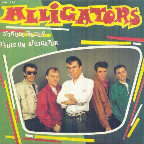 ALLIGATORS - Minuit blues/J'suis un alligator - 45T (SP 2 titres)