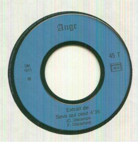 ANGE - EXTRAIT DE SEVE QUI PEUT 4'35 / LES AMOURS-LUMIERE - 45T (SP 2 titres)