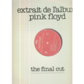 PINK FLOYD - EXTRAIT DE L'ALBUM THE FINAL CUT (NOT NOW JOHN - 4'50) - Maxi 45T