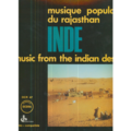 VARIOUS - OCORA - MUSIQUE POPULAIRE DU RAJASTHAN - INDE - MUSIC FROM THE INDIAN DESERT - LP