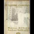 MARIVAUX MADELEINE RENAUD / JEAN LOUIS BARRAULT - MARIVAUX - LES FAUSSES CONFIDENCES - LP x 2