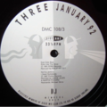 VARIOUS / DMC - DMC - JANUARY 1992 - THREE - 12 inch 45 rpm