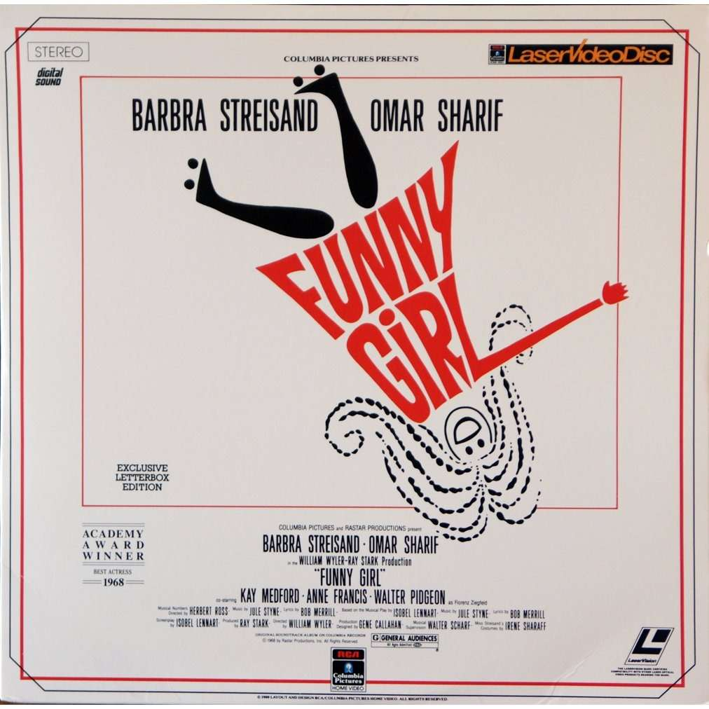 Funny Girl By Barbra Streisand Omar Sharif Ld X 2 With