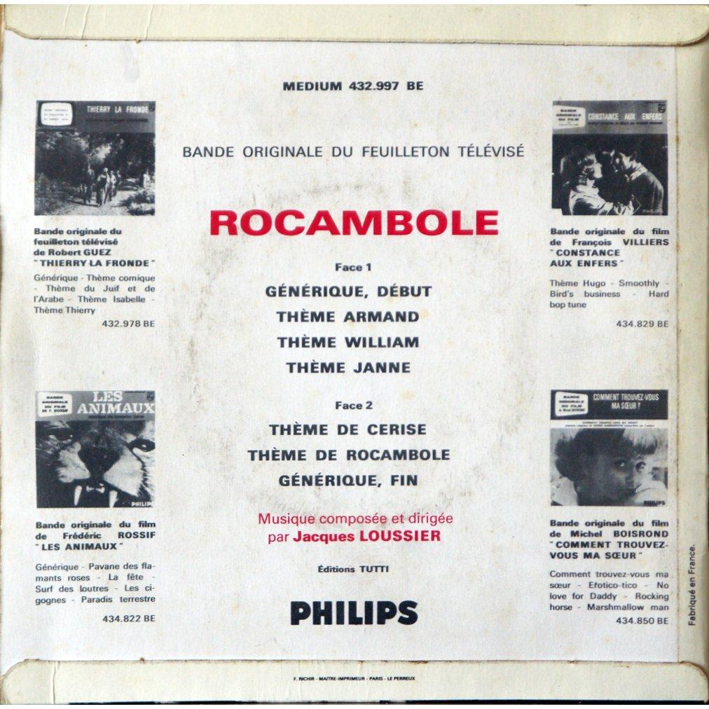 jacques loussier rocambole (7 titres)