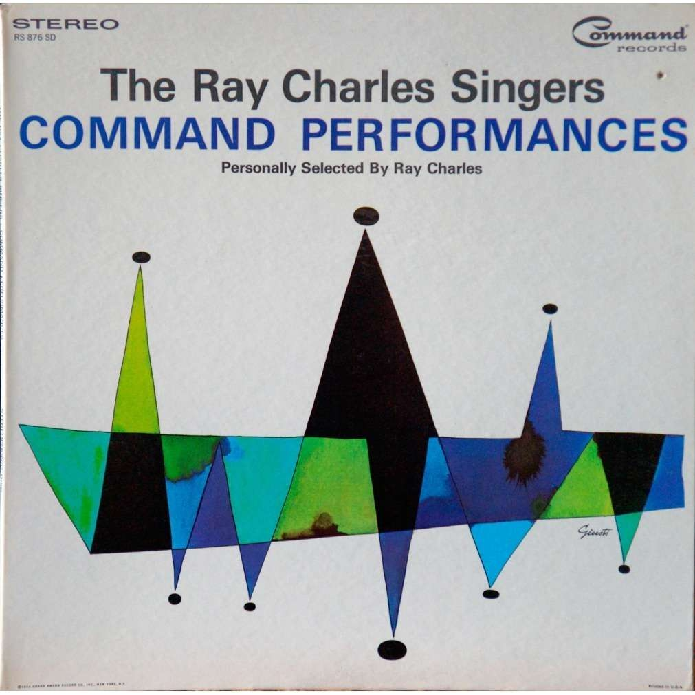 ray charles singers command performances