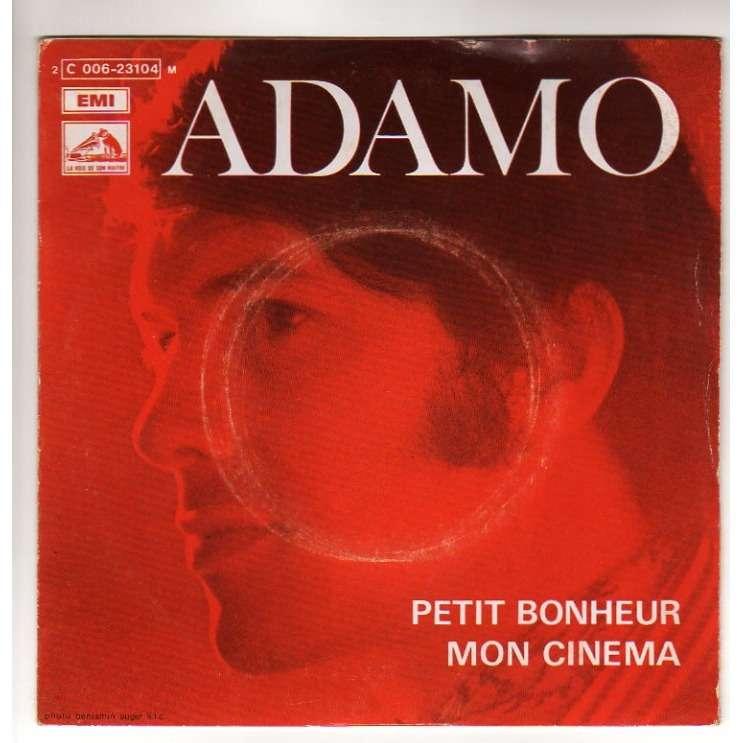 ADAMO PETIT BONHEUR/MON CINEMA - LANGUETTE - (BIEM)