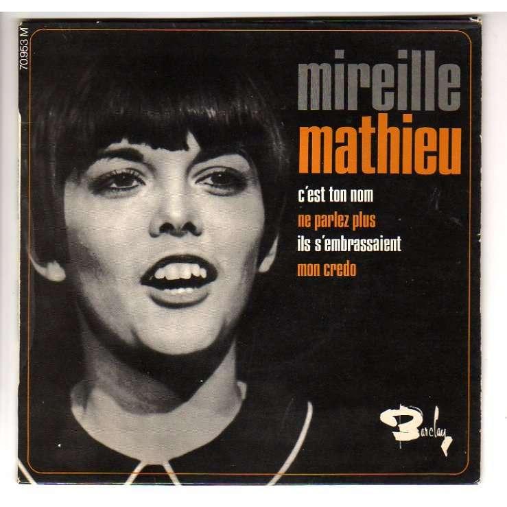 MATHIEU MIREILLE C'EST TON NOM + 3 - 1ER EP - VERSO ETIQUETTE MARRON
