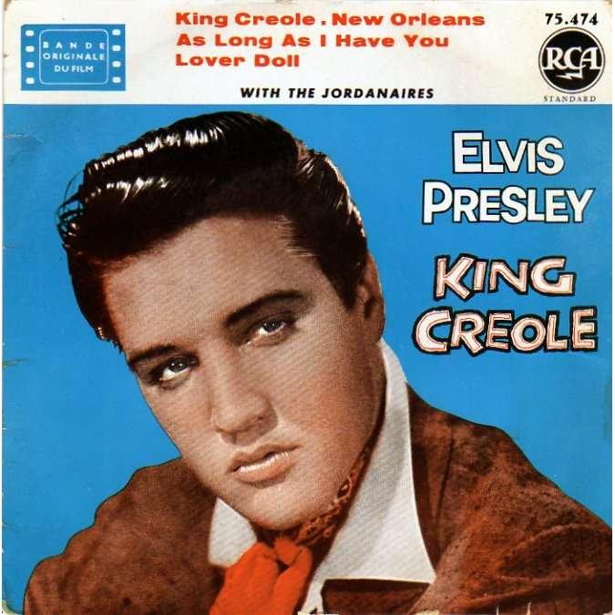 PRESLEY ELVIS KING CREOLE + 3 - B.O.F. 'KING CREOLE' Ð LABEL JAUNE - 10/60