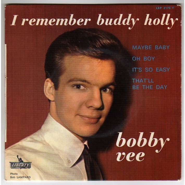 VEE BOBBY MAYBE BABY + 3 - LANGUETTE - I REMEMBER BUDDY HOLLY