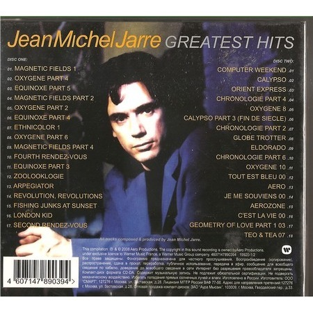 Greatest Hits By Jean Michel Jarre Cd X 2 With