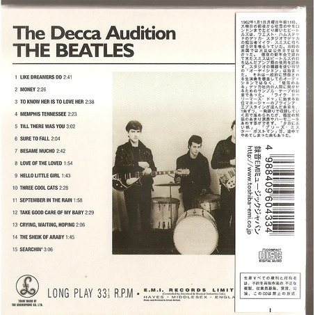 The beatles the lost decca audition tapes cd 1 youtube.