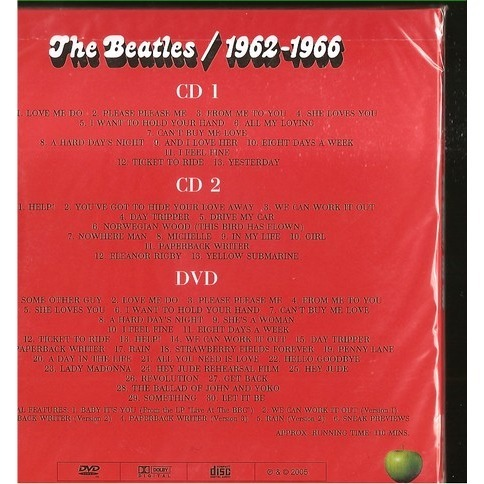 the beatles 1962-1966 DVD+2 CDS