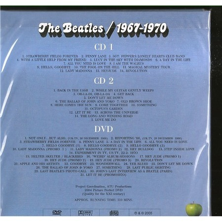 the beatles 1967-1970 DVD+2 CDS