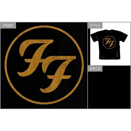 gold logo tshirt t s by foo fighters tshirtm with