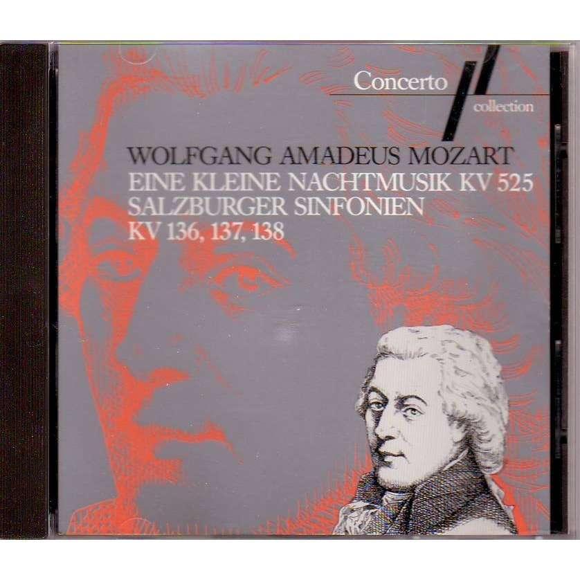 wolfgang amadeus mozart EINE KLEINE NACHTMUSIC KV 525 - SALZBURGER SINFONIEN KV136/137/1383
