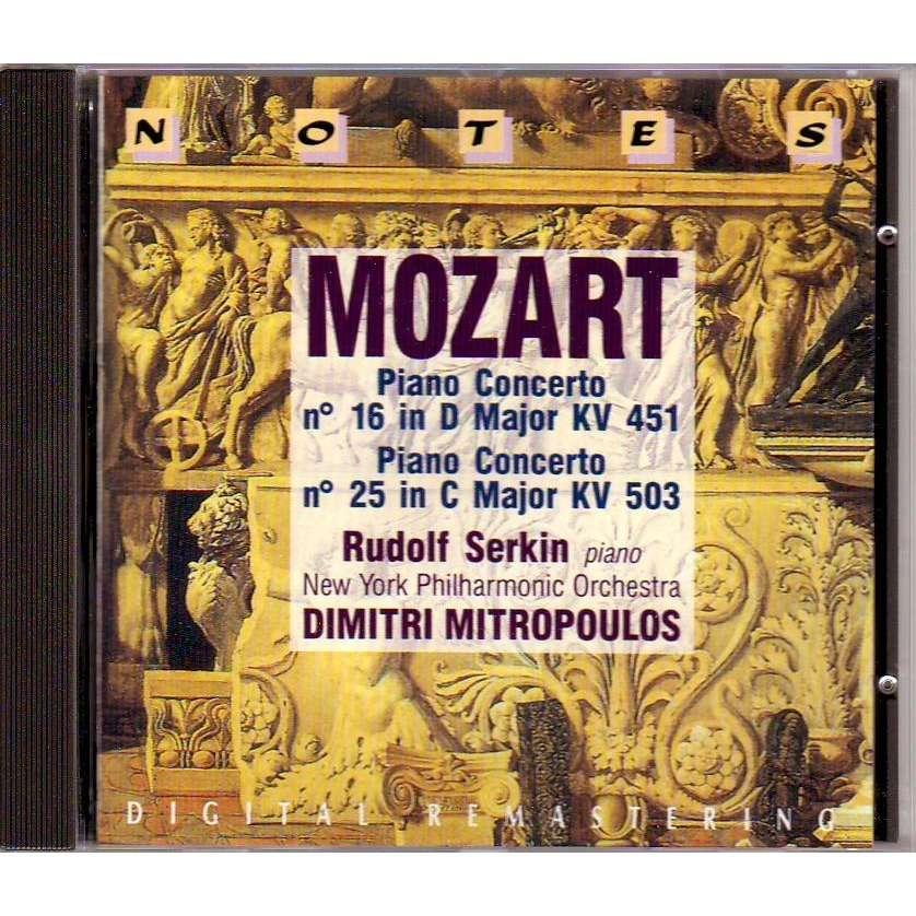 MOZART  /  PIANO CONCERTO / RUDOLF SERKIN NEW YORK PHILHARMONIC / DIMITRI MITROPOULOS