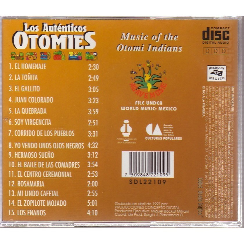 LOS AUTENTICOS OTOMIES  (world music Mexico ) music of the Otomi indians
