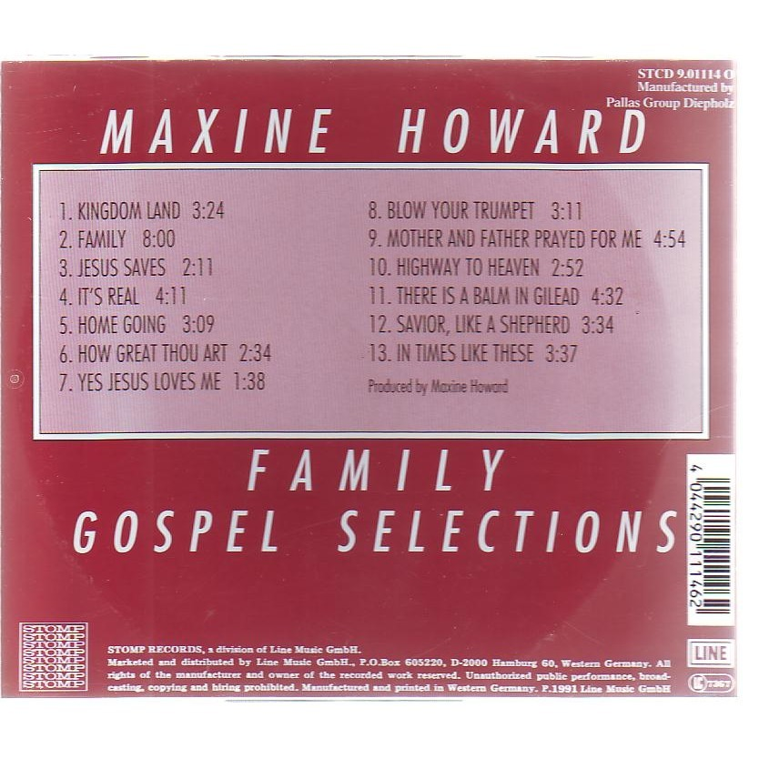 MAXIME HOWARD FAMILY GOSPEL SELECTIONS