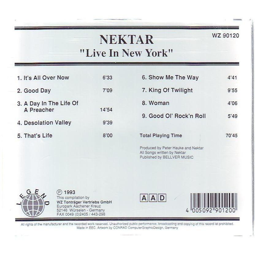 NEKTAR LIVE IN NEW YORK