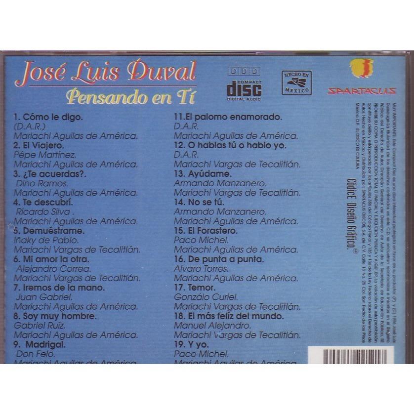 JOSE LUIS DUVAL PENSANDO EN TI