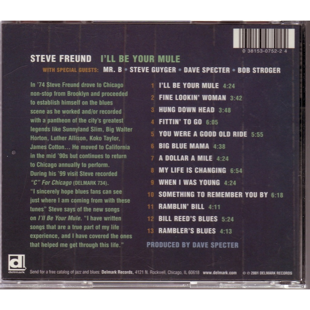 Steeve FREUND I'LL BE YOUR MULE