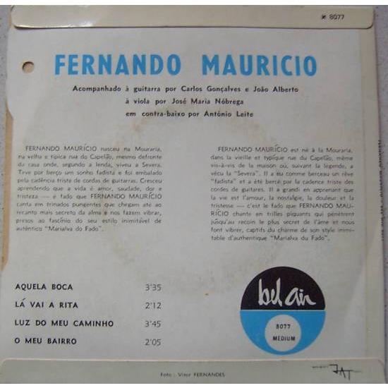 Fernando Mauricio Aquela boca / Ma vai a rita / Luz do meu caminho / O meu bairro