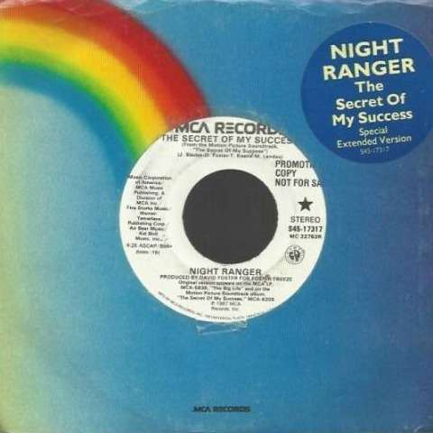 Night Ranger The Secret of my success (Special Extended version - Promo Copy)