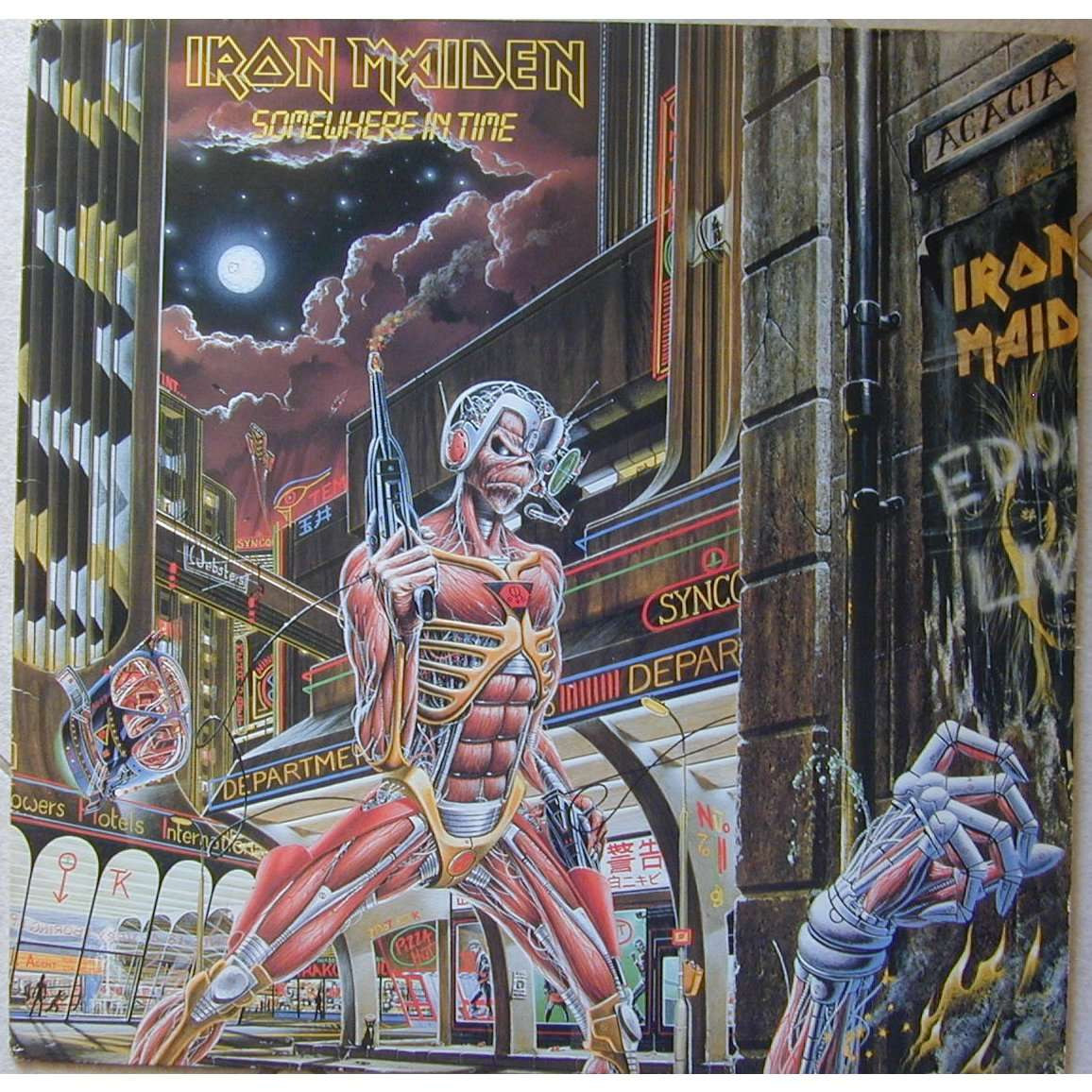 Somewhere in time by Iron Maiden, LP with speed06 - Ref ...