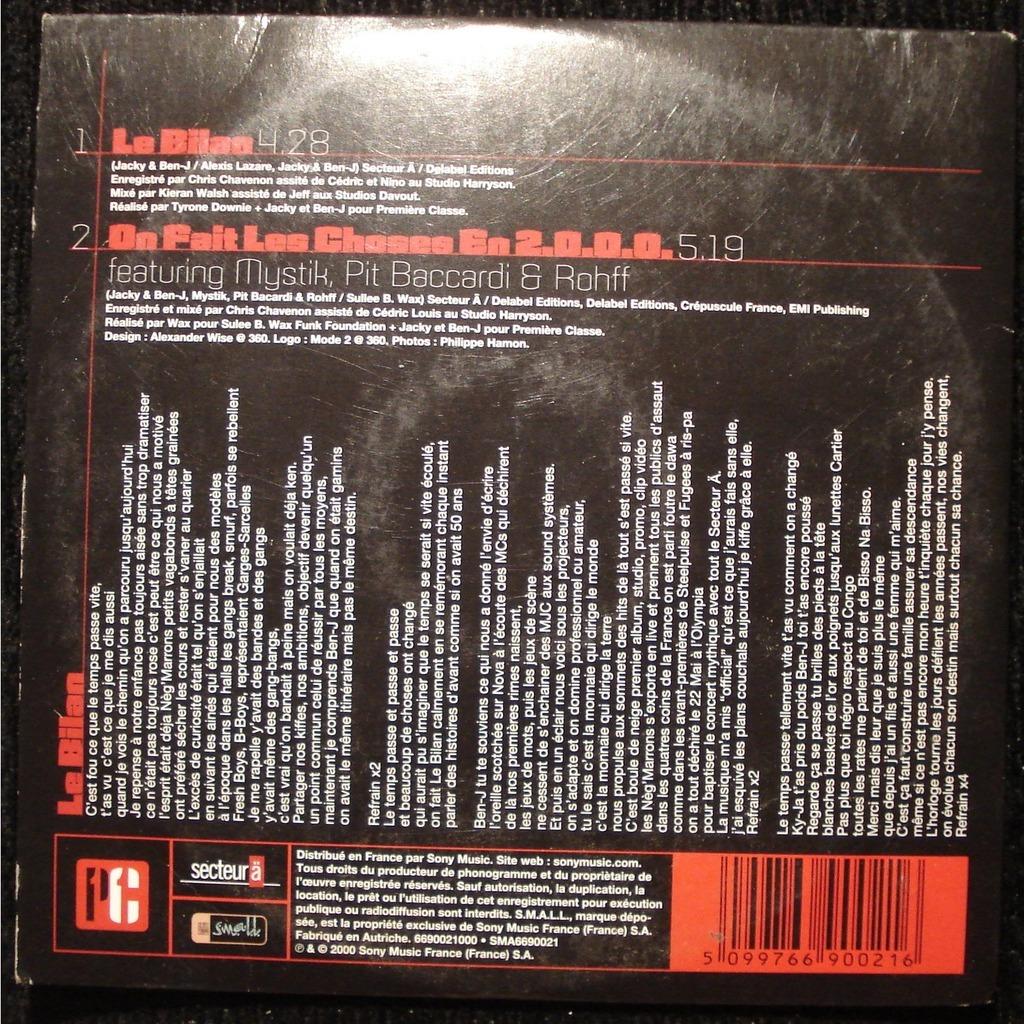 album neg marron le bilan
