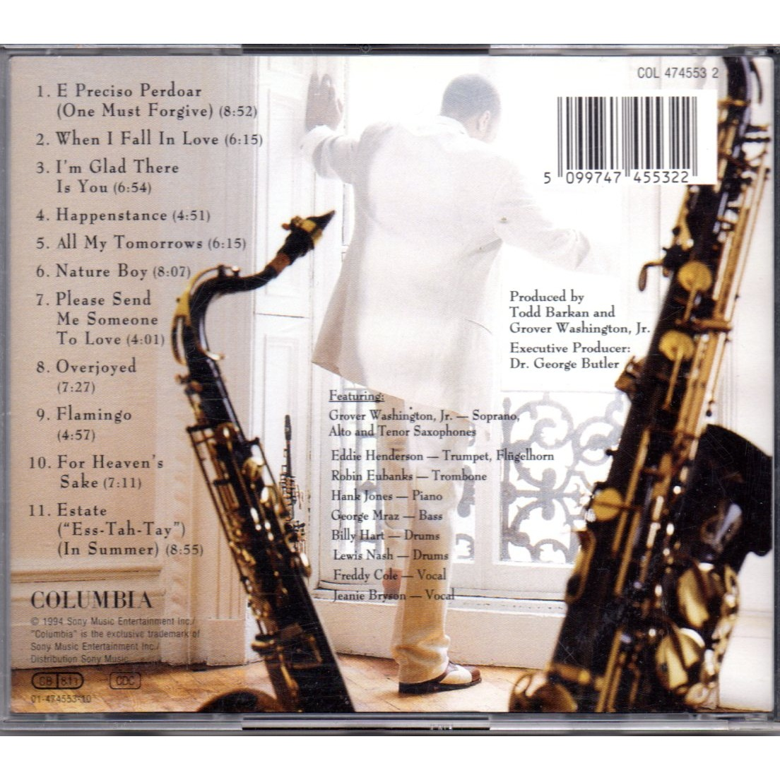 All My Tomorrows By Grover Washington Jr Cd With