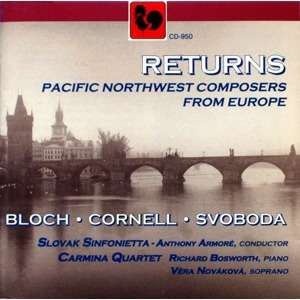 BLOCH • CORNELL • SVOBODA 'RETURNS' • Slovak Sinfonietta, Anthony Armoré, dir.