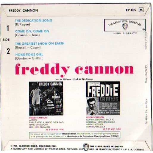 Cannon Freddy The dedication song / Come on, come on / The greatest show on earth / Hokie pokie girl