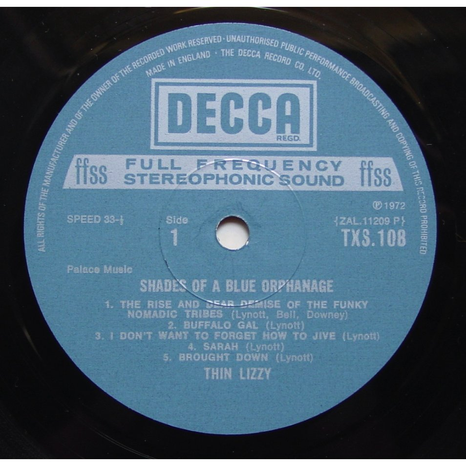 Shades Of A Blue Orphanage By Thin Lizzy Lp With Themroc