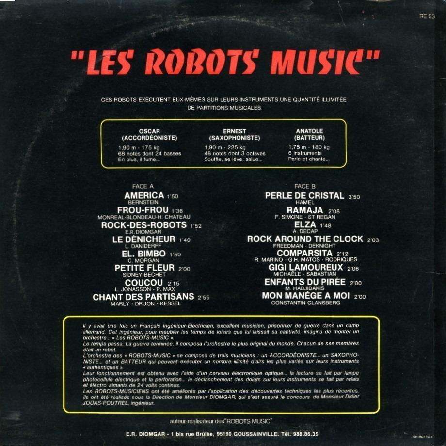 E.R. DIOMGAR Les Robots Music 'les Robots Music' ils jouent sur des instruments authentiques ( volume 1)