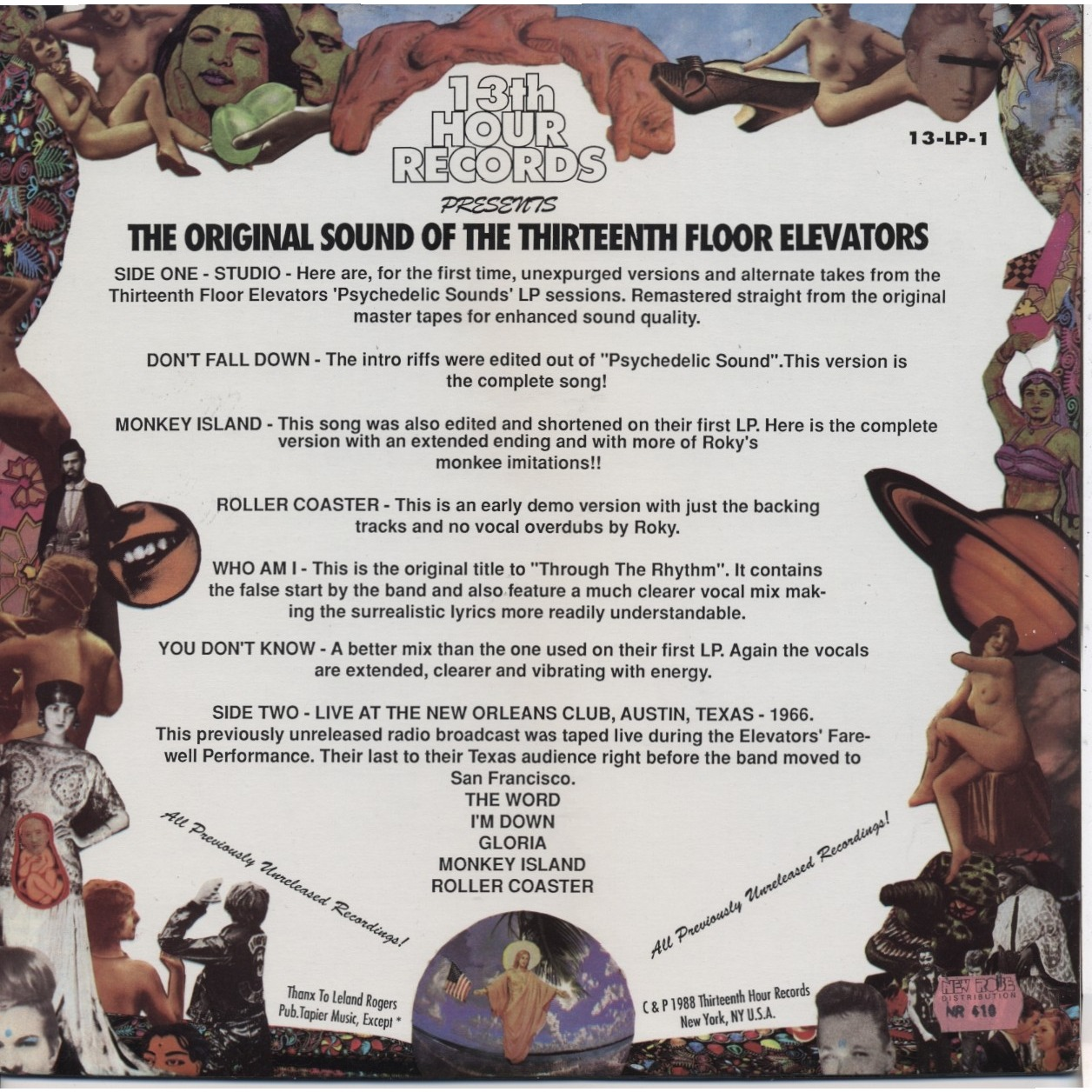 13th floor elevators the original sound of the thirteenth for 13th floor 1988